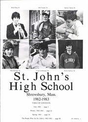 Page 5, 1983 Edition, St Johns High School - Yearbook (Shrewsbury, MA) online yearbook collection