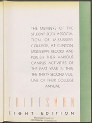 Page 7, 1938 Edition, Mississippi College - Tribesman Yearbook (Clinton, MS) online yearbook collection