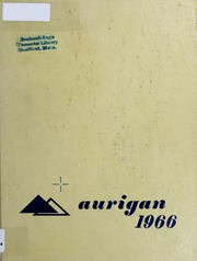 Page 1, 1966 Edition, Mount Everett High School - Aurigan Yearbook (Sheffield, MA) online yearbook collection