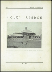 Page 11, 1932 Edition, Rindge Technical School - Brownie Yearbook (Cambridge, MA) online yearbook collection