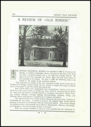 Page 13, 1932 Edition, Rindge Technical School - Brownie Yearbook (Cambridge, MA) online yearbook collection
