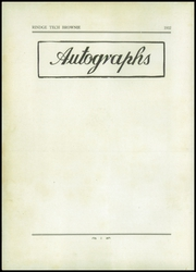 Page 6, 1932 Edition, Rindge Technical School - Brownie Yearbook (Cambridge, MA) online yearbook collection