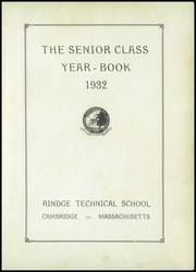Page 7, 1932 Edition, Rindge Technical School - Brownie Yearbook (Cambridge, MA) online yearbook collection