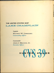 Page 6, 1959 Edition, Lake Champlain (CVS 39) - Naval Cruise Book online yearbook collection