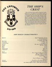 Page 7, 1989 Edition, Leftwich (DD 984) - Naval Cruise Book online yearbook collection