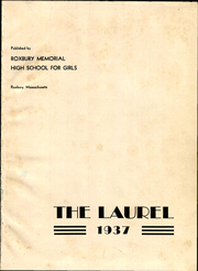 Page 5, 1937 Edition, Roxbury Memorial High School for Girls - Laurel Yearbook (Boston, MA) online yearbook collection