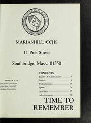 Page 5, 1988 Edition, Marianhill High School - Yearbook (Southbridge, MA) online yearbook collection