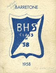 1958 Edition, Barre High School - Barretone Yearbook (Barre, MA)