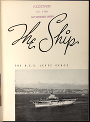 Page 11, 1953 Edition, Leyte (CVA 32) - Naval Cruise Book online yearbook collection