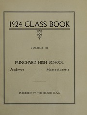Page 5, 1924 Edition, Punchard High School - Prism Yearbook (Andover, MA) online yearbook collection