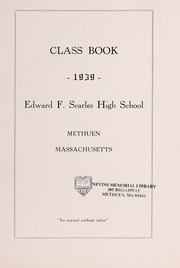 Page 11, 1939 Edition, Searles High School - Yearbook (Methuen, MA) online yearbook collection