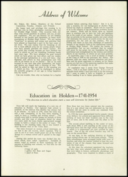 Page 5, 1954 Edition, Holden High School - Clarion Yearbook (Holden, MA) online yearbook collection