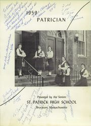 Page 5, 1959 Edition, St Patrick High School - Patrician Yearbook (Brockton, MA) online yearbook collection