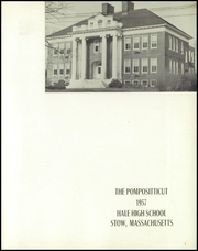 Page 5, 1957 Edition, Hale High School - Pompositticut Yearbook (Stow, MA) online yearbook collection