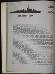 Page 8, 1967 Edition, Massey (DD 778) - Naval Cruise Book online yearbook collection