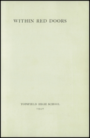 Page 3, 1940 Edition, Topsfield High School - Shenewemedy Yearbook (Topsfield, MA) online yearbook collection