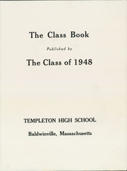 Page 5, 1948 Edition, Templeton High School - Class Book Yearbook (Baldwinville, MA) online yearbook collection