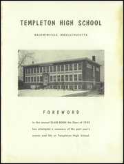 Page 3, 1952 Edition, Templeton High School - Class Book Yearbook (Baldwinville, MA) online yearbook collection