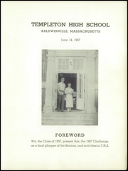 Page 3, 1957 Edition, Templeton High School - Class Book Yearbook (Baldwinville, MA) online yearbook collection