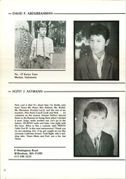 Page 14, 1986 Edition, Wilbraham and Monson Academy - Hill Yearbook (Wilbraham, MA) online yearbook collection