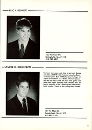 Page 17, 1986 Edition, Wilbraham and Monson Academy - Hill Yearbook (Wilbraham, MA) online yearbook collection