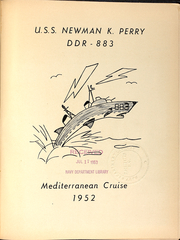 Page 5, 1952 Edition, Newman K Perry (DDR 883) - Naval Cruise Book online yearbook collection