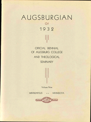 Page 9, 1932 Edition, Augsburg College - Augsburgian Yearbook (Minneapolis, MN) online yearbook collection