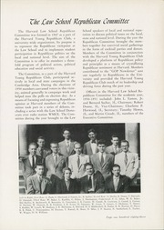 Page 187, 1951 Edition, Harvard Law School - Yearbook (Cambridge, MA) online yearbook collection