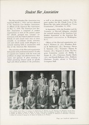 Page 191, 1951 Edition, Harvard Law School - Yearbook (Cambridge, MA) online yearbook collection