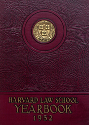 Page 1, 1952 Edition, Harvard Law School - Yearbook (Cambridge, MA) online yearbook collection