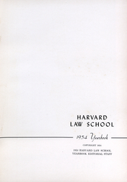 Page 2, 1954 Edition, Harvard Law School - Yearbook (Cambridge, MA) online yearbook collection