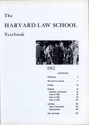 Page 4, 1962 Edition, Harvard Law School - Yearbook (Cambridge, MA) online yearbook collection