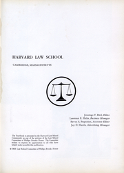 Page 2, 1963 Edition, Harvard Law School - Yearbook (Cambridge, MA) online yearbook collection