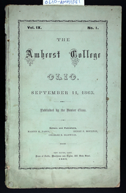 Amherst College - Olio Yearbook (Amherst, MA) online yearbook collection, 1863 Edition, Page 1