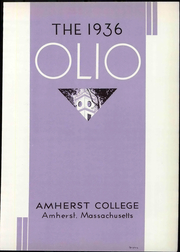 Page 9, 1936 Edition, Amherst College - Olio Yearbook (Amherst, MA) online yearbook collection