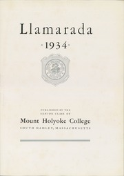 Page 11, 1934 Edition, Mount Holyoke College - Llamarada Yearbook (South Hadley, MA) online yearbook collection