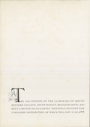 Page 8, 1934 Edition, Mount Holyoke College - Llamarada Yearbook (South Hadley, MA) online yearbook collection