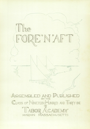 Page 9, 1931 Edition, Tabor Academy - Fore n Aft Yearbook (Marion, MA) online yearbook collection