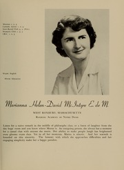 Page 37, 1951 Edition, Newton College of the Sacred Heart - The Well Yearbook (Newton, MA) online yearbook collection