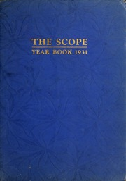 1931 Edition, New England College of Optometry - Scope Yearbook (Boston, MA)
