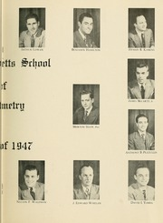 Page 11, 1947 Edition, New England College of Optometry - Scope Yearbook (Boston, MA) online yearbook collection