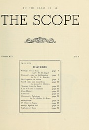 Page 3, 1950 Edition, New England College of Optometry - Scope Yearbook (Boston, MA) online yearbook collection