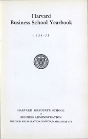 Page 5, 1935 Edition, Harvard Business School - Yearbook (Boston, MA) online yearbook collection