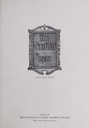 Page 7, 1930 Edition, Eastern Nazarene College - Nautilus Yearbook (Quincy, MA) online yearbook collection