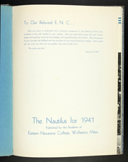 Page 5, 1941 Edition, Eastern Nazarene College - Nautilus Yearbook (Quincy, MA) online yearbook collection