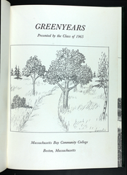 Page 5, 1965 Edition, Massachusetts Bay Community College - Greenyears Yearbook (Wellesley, MA) online yearbook collection