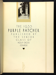 Page 7, 1933 Edition, College of the Holy Cross - Purple Patcher Yearbook (Worcester, MA) online yearbook collection