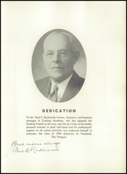 Page 9, 1948 Edition, Cushing Academy - Penguin Yearbook (Ashburnham, MA) online yearbook collection