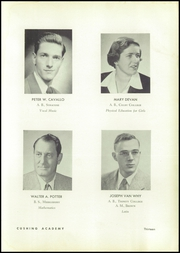 Page 17, 1955 Edition, Cushing Academy - Penguin Yearbook (Ashburnham, MA) online yearbook collection