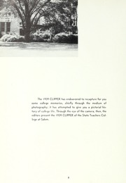 Page 12, 1939 Edition, Salem State University - Clipper Yearbook online yearbook collection